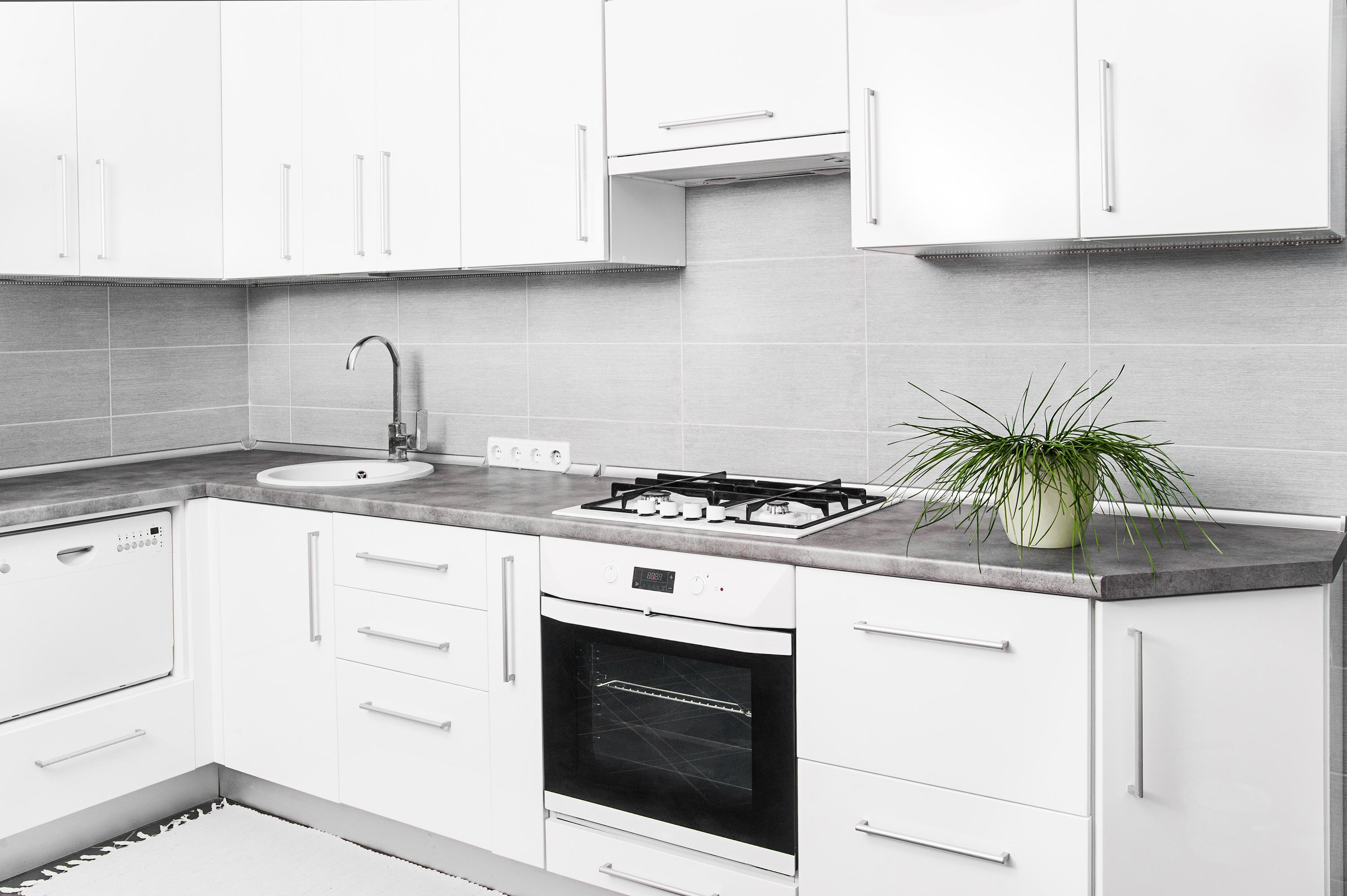 Bigstock Interior Of Small White Kitche 44702749 Kitchen